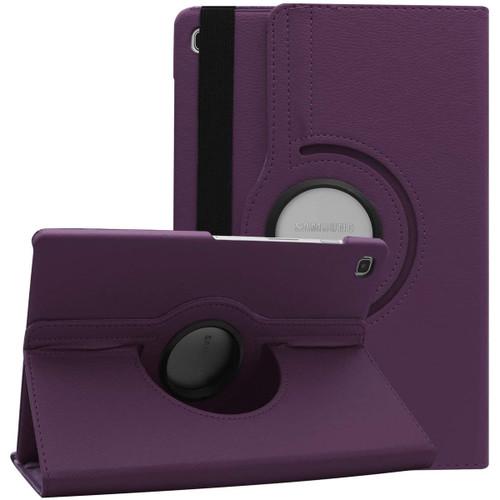 Purple Galaxy Tab S6 Lite 10.5 360 Degree Rotating PU Leather Case - 1
