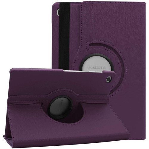 Purple Galaxy Tab S6 Lite 10.5 360 Degree Rotating PU Leather Case - 1