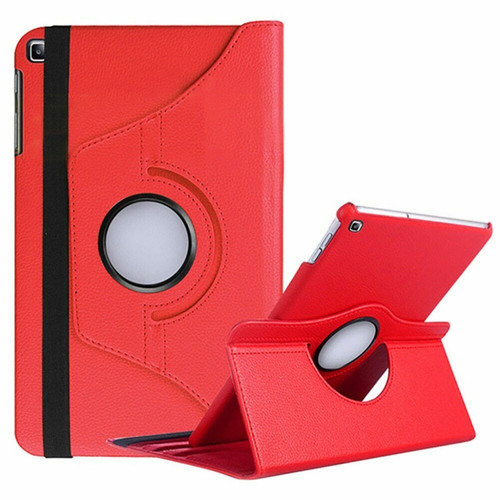 Red 360 Degree Rotating PU Leather Case For Galaxy Tab S6 Lite 10.5