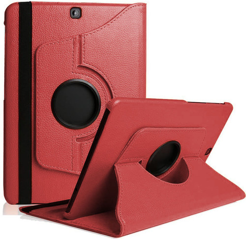 Red 360 Degree Rotating Folio Stand Case For Galaxy Tab A 9.7 (2015) - 1