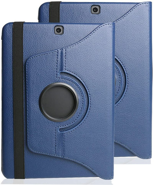 Navy Galaxy Tab A 8.0 (2017) T380 T385 360 Rotating Stand Case - 1