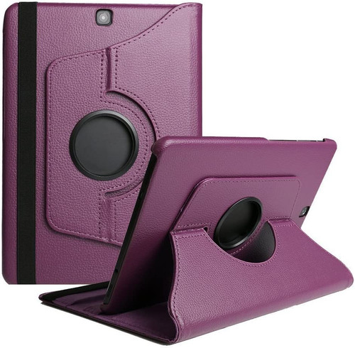 Purple 360 Degree Rotating Stand Case For Galaxy Tab A 8.0 (2017)  - 1