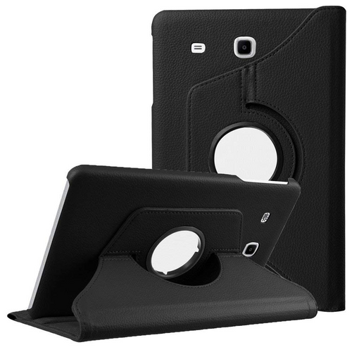 Black 360 Degree Rotating Folio Stand Case for Galaxy Tab A 7.0 (2016) - 1