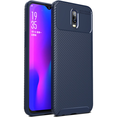 Navy Shock Proof Armor Carbon Fibre Protective Case For Oppo R17 - 1