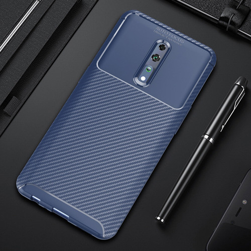 Navy Oppo Reno Z Slim Armor Shock Proof Carbon Fibre Case - 1
