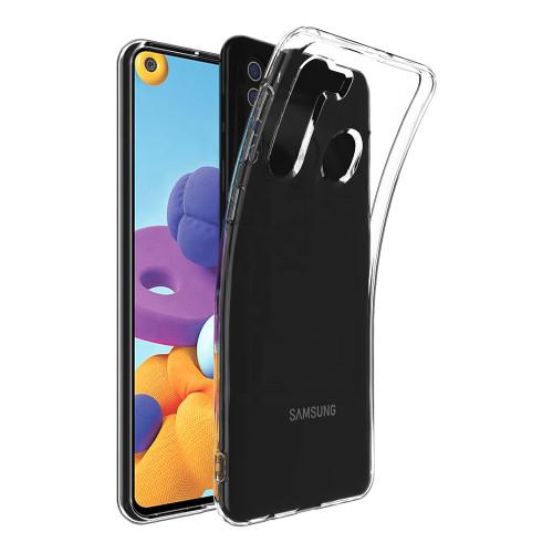 Clear Samsung Galaxy A11 Shock-Absorption Ultra Slim Gel Case - 1