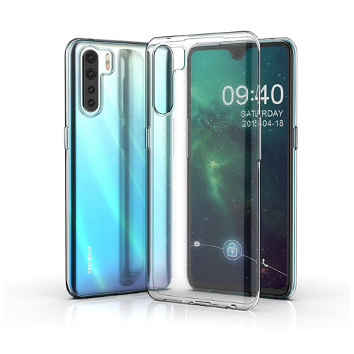 Clear Ultra Slim Soft Gel Case Cover Protector For Oppo A91 - 1