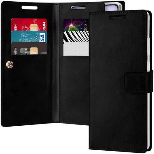 Black Galaxy Note 20 Genuine Mercury Mansoor 9 Card Slot Wallet Case - 1