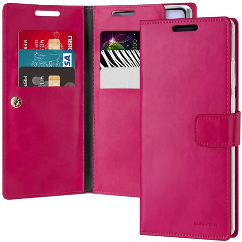 Stylish Hot Pink Galaxy Note 20 Genuine Mercury Mansoor Wallet Case - 1