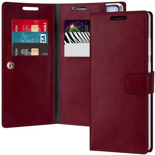 Classy Wine Galaxy Note 20 Genuine Mercury Mansoor Wallet Case - 1
