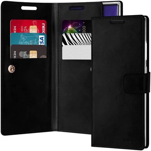 Black Genuine Mercury Mansoor Wallet Case For Galaxy Note 20 Ultra - 1