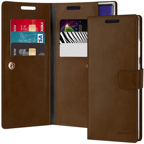 Vintage Brown Mercury Mansoor Wallet Case For Galaxy Note 20 Ultra - 1