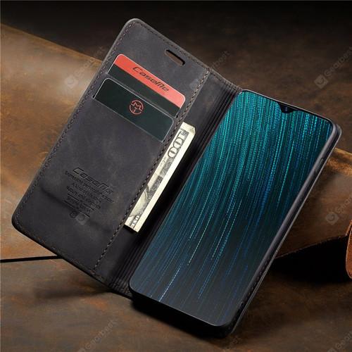 Black Oppo AX5s CaseMe Compact Flip Premium Wallet Case Cover - 1