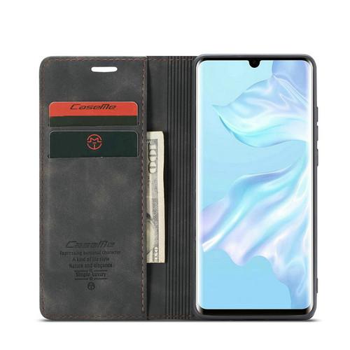 Black Oppo AX7 CaseMe Compact Flip Premium Wallet Case Cover - 1