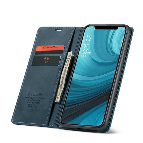 Blue CaseMe Magnetic Compact Flip Wallet Case For Oppo AX5 / A3S - 1