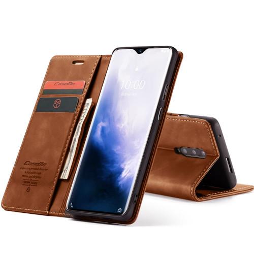 Vintage Brown Oppo R17 Pro CaseMe Compact Flip  Wallet Case  - 1