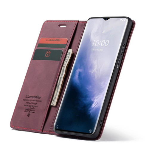 Red Wine Oppo R17 Pro CaseMe Compact Flip Magnetic Wallet Case - 1