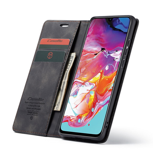 Black Oppo R17 CaseMe Compact Flip Premium Wallet Case - 1