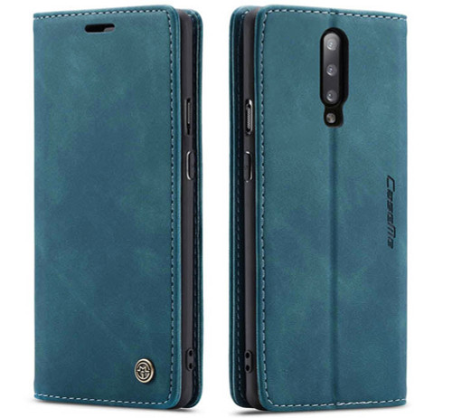 Blue CaseMe Magnetic Compact Flip Wallet Case For Oppo R17 - 6