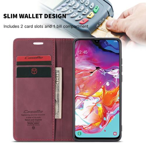 Red Wine Oppo R17 CaseMe Compact Flip Magnetic Wallet Case - 1