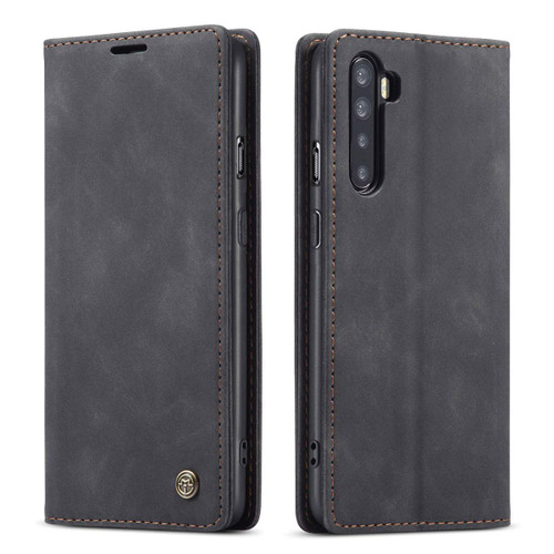 Black Oppo A91 CaseMe Compact Flip Premium Wallet Case - 2