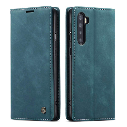 Blue CaseMe Magnetic Compact Flip Wallet Case For Oppo A91 - 1