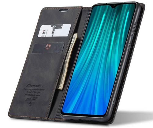 Black Oppo A9 2020 CaseMe Compact Flip Premium Wallet Case - 1