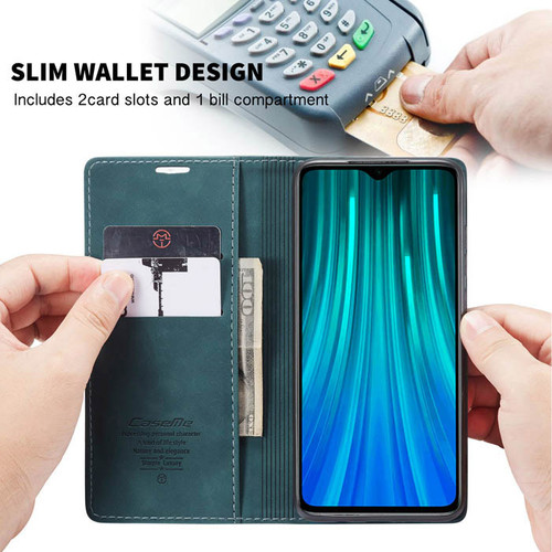 Blue CaseMe Magnetic Compact Flip Wallet Case For Oppo A9 2020 - 1