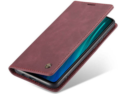 Red Wine Oppo A9 2020 CaseMe Compact Flip Magnetic Wallet Case - 1