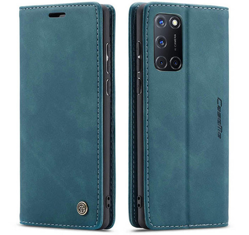 Blue CaseMe Magnetic Compact Flip Wallet Case For Oppo A52 - 1