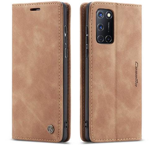 Vintage Brown Oppo A72 CaseMe Compact Flip  Wallet Case  - 1