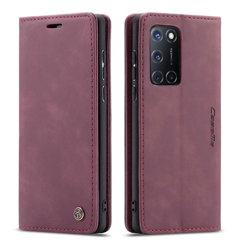 Red Wine Oppo A72 CaseMe Compact Flip Magnetic Wallet Case - 1