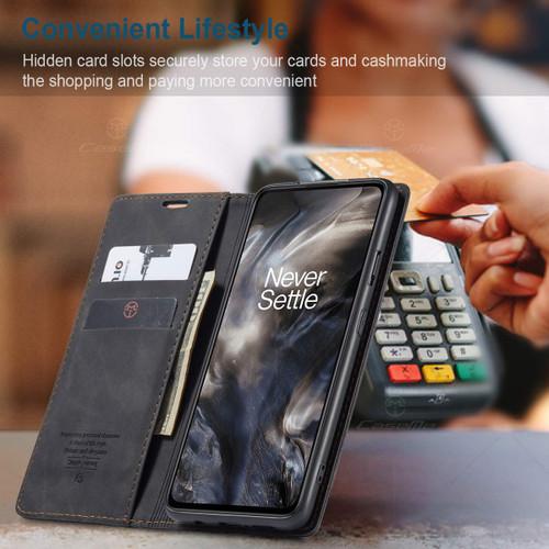 Black Oppo Reno 10X Zoom CaseMe Slim Flip Premium Wallet Case - 1