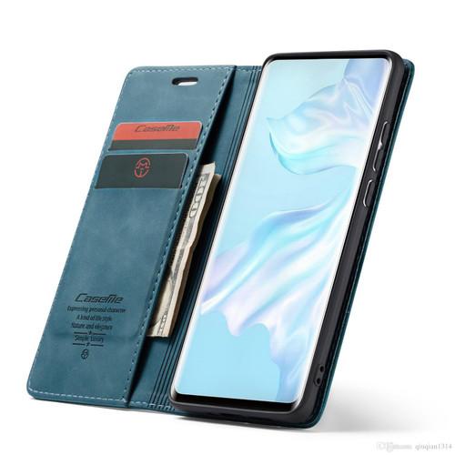Blue CaseMe Magnetic Slim Flip Wallet Case For Oppo Reno 10X Zoom - 1
