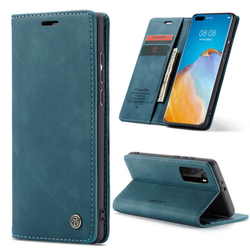 Blue Huawei P40 Pro CaseMe Synthetic Leather Wallet Case - 1