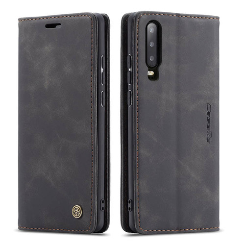 Black Huawei P30 CaseMe Slim Magnetic Wallet Case Cover - 1