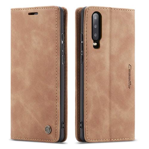 Brown Huawei P30 Genuine CaseMe Compact Flip Wallet Case - 1