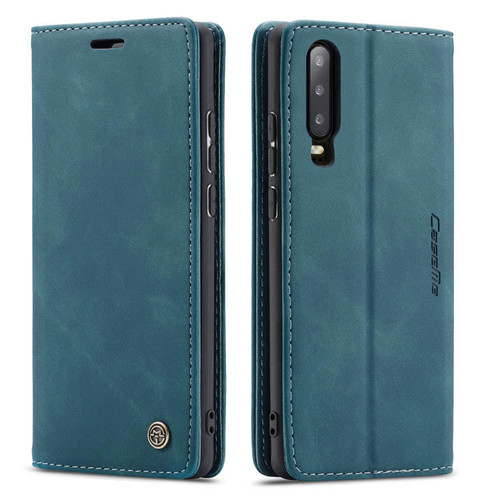 Blue CaseMe Slim Magnetic Wallet Case Cover For Huawei P30  - 1