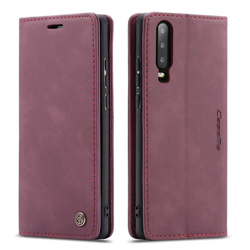 Red Wine Genuine CaseMe Compact Flip Wallet Case For Huawei P30  - 1