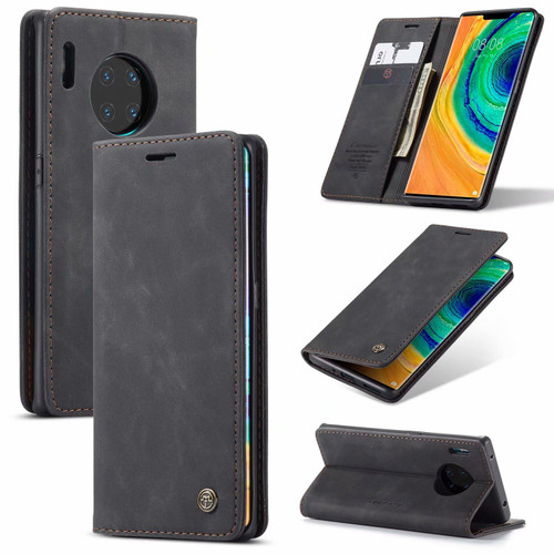Black CaseMe Premium PU Leather Wallet Case For Huawei P30 Pro  - 1