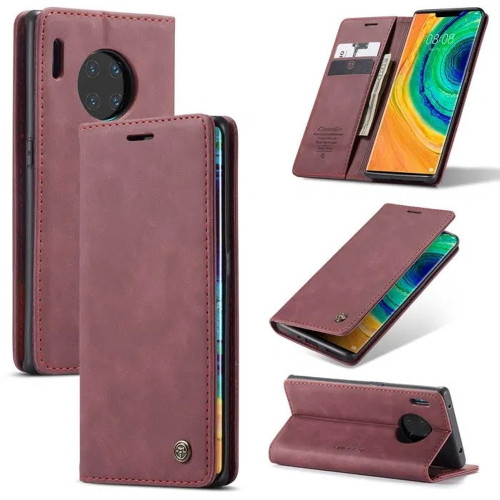 Red Wine Genuine CaseMe Compact Flip Wallet Case For Huawei P30 Pro  - 1