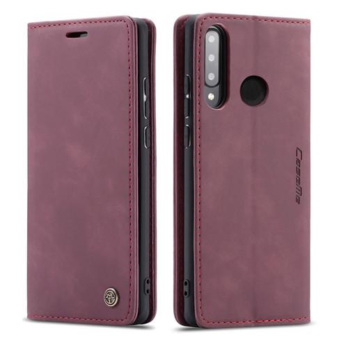 Red Wine Huawei P30 Lite Genuine CaseMe Compact Flip Wallet Case - 1