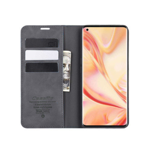 Black Huawei Nova 5T Premium CaseMe Thin Magnetic Wallet Case - 1