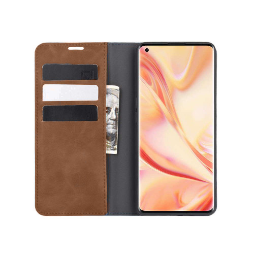 Brown CaseMe Slim Magnetic Wallet Case Cover For Huawei Nova 5T  - 1