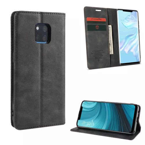 Black Huawei Mate 20 pro Genuine CaseMe Compact Flip Wallet Case - 1
