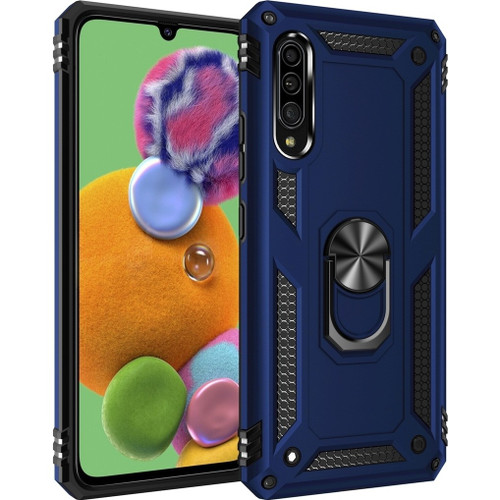 Navy Huawei P30 Hybrid  Shock Proof Rotating Metal Ring Case - 1