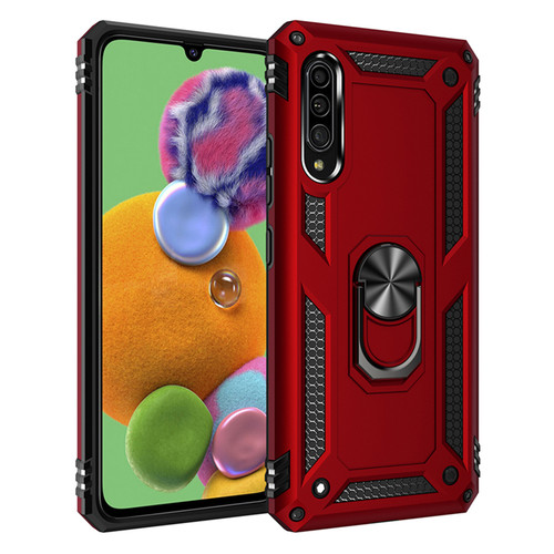 Red Shock Proof 360 Rotating Metal Ring Stand Case For Huawei P30  - 1