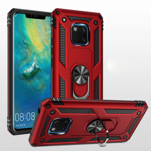 Red Slim Armour 360 Rotating Metal Ring Stand Case For Huawei Mate 20 pro  - 1