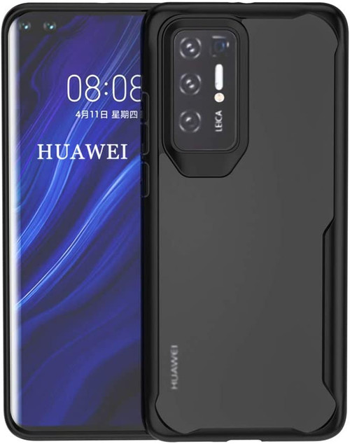 Black Full Body Clear Back Shock Proof Case For Huawei P40 Pro  - 1