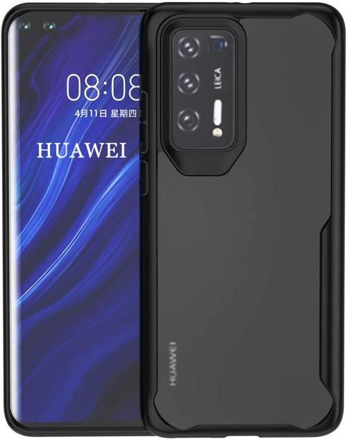 Black Huawei P40 Rugged Heavy Duty Slim 360 Full Body Cover - 1